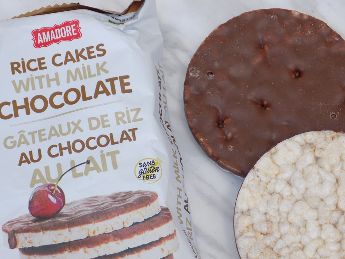 Amadore Rice Cakes with Chocolate Dollarama Review - Low Calorie Snacks Canada