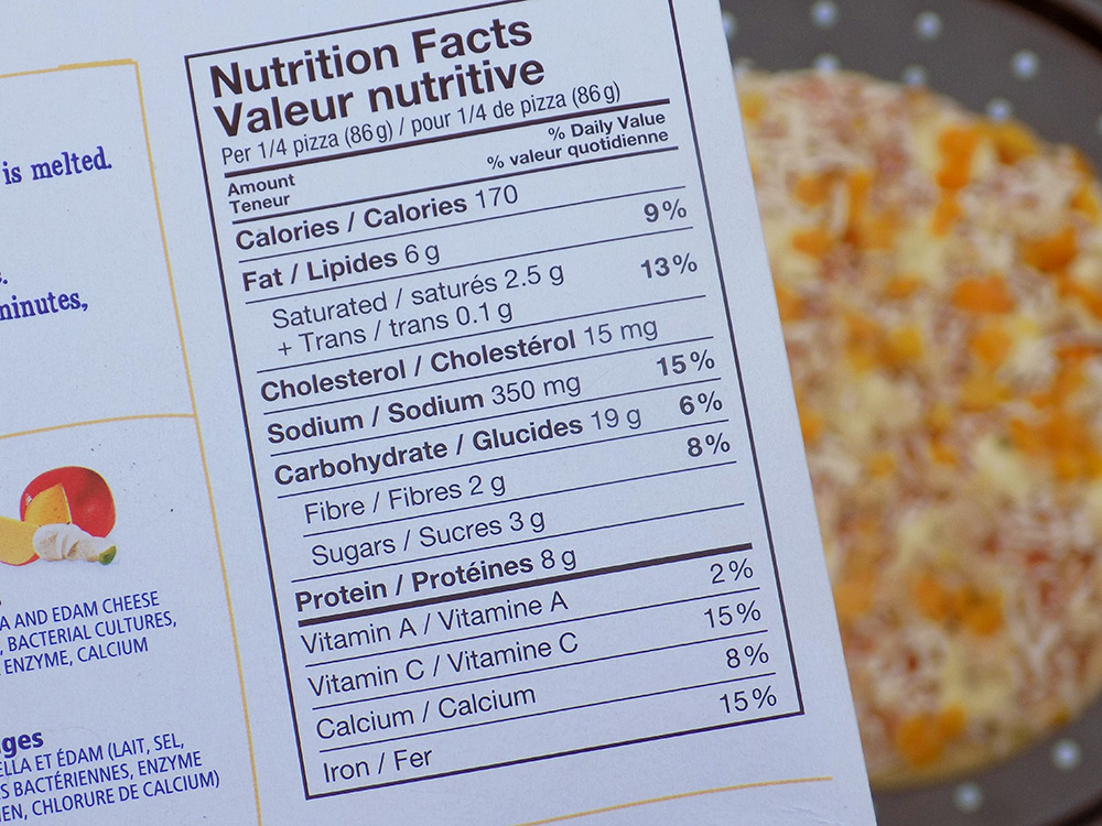 Dr Oetker Cauliflower Crust Pizza Review - Nutrition