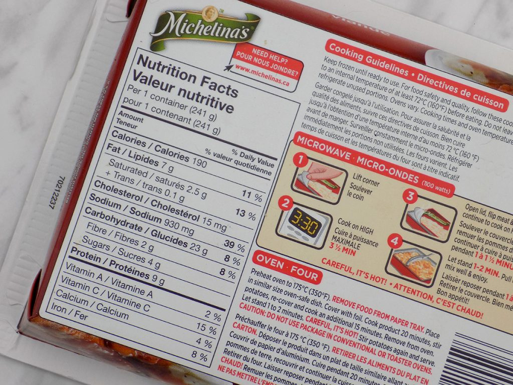 Michelina's Meals - Mealtloaf Calories - Is Light Always Better